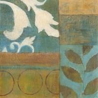 Bronze Leaf Quadrant I Framed Print