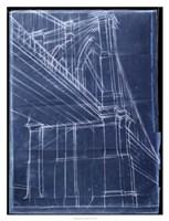Bridge Blueprint II Framed Print