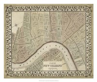 Plan of New Orleans Fine Art Print