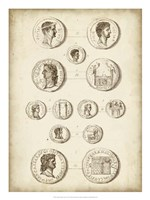 Antique Roman Coins I Framed Print