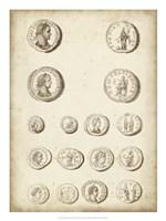 Antique Roman Coins II Framed Print
