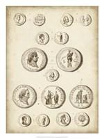 Antique Roman Coins III Framed Print