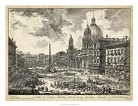Veduta di Piazza Navona Fine Art Print
