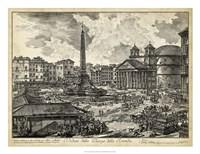 Veduta della Piazza della Rotunda Fine Art Print