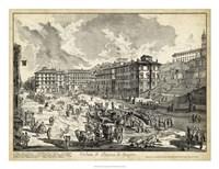 Veduta di Piazza di Spagna Fine Art Print