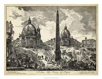 Veduta della Piazza del Popolo Fine Art Print