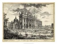 Veduta della Basilica di S. Giovanni Laterano Fine Art Print