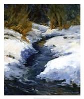 Snow on the Banks Fine Art Print