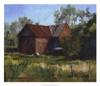 Amish Country Barn Fine Art Print