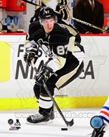 Sidney Crosby Hockey Passing Action Fine Art Print
