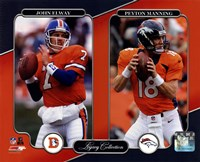 John Elway & Peyton Manning Legacy Collection Framed Print