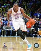 Kevin Durant Dribbling Basketball Fine Art Print