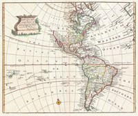 1747 Bowen Map of North America and South America Fine Art Print