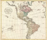 1795 D'Anville Wall Map of South America Fine Art Print