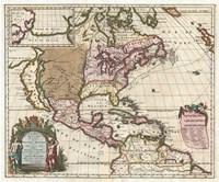 1698 Louis Hennepin Map of North America Fine Art Print