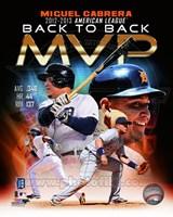 Miguel Cabrera 2013 American League MVP Portrait Plus Fine Art Print