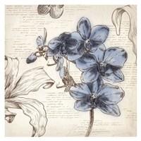 Blushing Blue II - Mini Fine Art Print