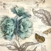 Blooming Teal II - Mini Fine Art Print