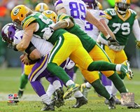 Clay Matthews on the field 2013 Fine Art Print