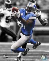 Calvin Johnson Spotlight 2013 Framed Print