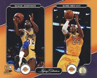 Magic Johnson & Kobe Bryant Legacy Collection Fine Art Print