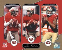 Joe Montana, Steve Young, & Colin Kaepernick Legacy Collection Fine Art Print