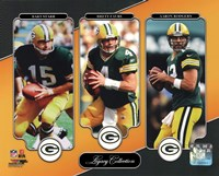 Bart Starr, Brett Favre, & Aaron Rodgers Legacy Collection Framed Print