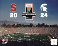 2014 Rose Bowl Champions Michigan Spartans Vs. Stanford Cardinals Fine Art Print