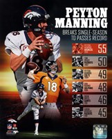 Peyton Manning Single Season TD Record Framed Print