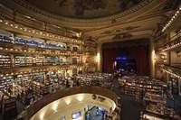Interiors of a bookstore, El Ateneo, Avenida Santa Fe, Buenos Aires, Argentina Fine Art Print