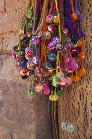 Multi-colored hangings on wall, Tulmas, Purmamarca, Quebrada De Humahuaca, Argentina Fine Art Print