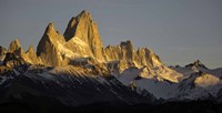 Sun Reflecting off Mt Fitzroy, Argentine Glaciers National Park, Santa Cruz Province, Patagonia, Argentina Fine Art Print