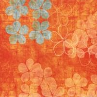 Orange Floral Fine Art Print