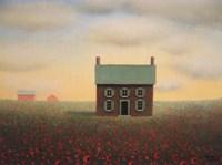 Old Farmhouse at Sunrise Fine Art Print