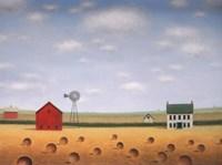 Windmill on the Old Farmstead Fine Art Print
