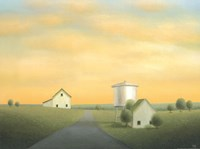 Road Past the Old Water Tower Fine Art Print
