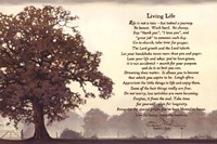 Living Life Sepia Tree Fine Art Print