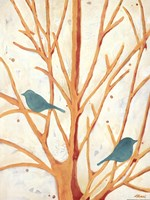 Two Birds In an Orange Tree Fine Art Print