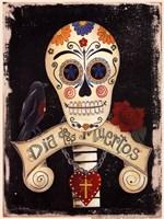 Dia de Los Meurtos Framed Print