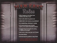 Man Cave Rules in a Locker Fine Art Print
