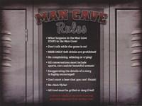 Man Cave Rules in a Locker Fine Art Print