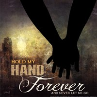 Hold My Hand Forever Framed Print