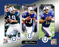 Johnny Unitas, Peyton Manning, & Andrew Luck Legacy Collection Fine Art Print