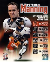Peyton Manning Single Season Passing Yards Record Fine Art Print