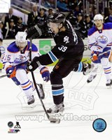 Logan Couture Passing Hockey Puck Fine Art Print