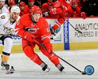 Jeff Skinner Passing Hockey Puck Fine Art Print