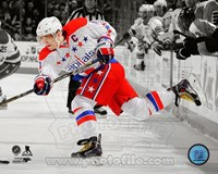 Alex Ovechkin on ice 2013-14 Spotlight Fine Art Print