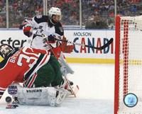 Mats Zuccarello Goal 2014 NHL Stadium Series Fine Art Print