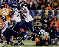 Marshawn Lynch Super Bowl XLVIII Action Fine Art Print