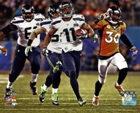 Percy Harvin Running a Touchdown Super Bowl XLVIII Fine Art Print